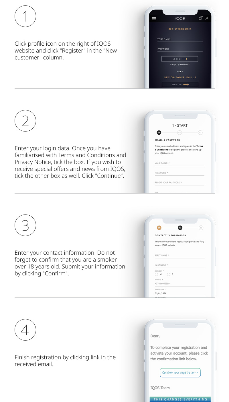How to create IQOS account