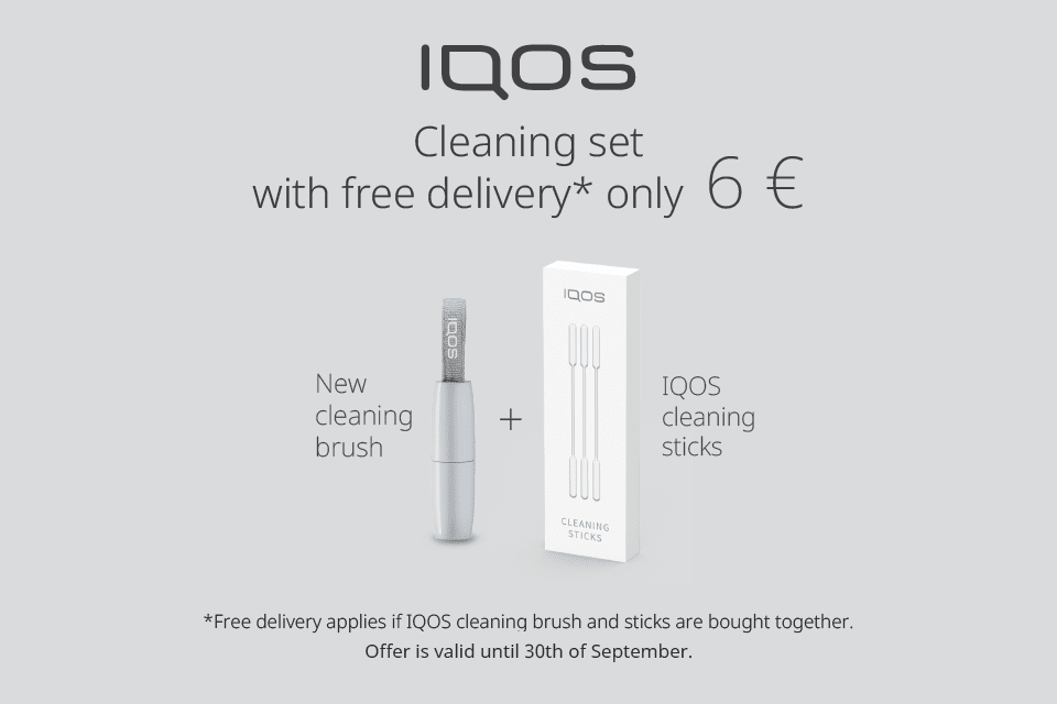 IQOS set  discount system heated tobacco